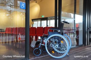 Courtesy Wheelchair if needed.