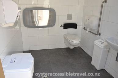 Inside the Accessible Toilets