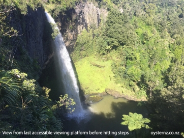 View from last accessible platform of falls - landscape