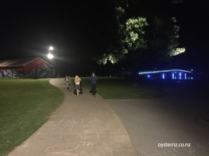 Walking into town from campground at night